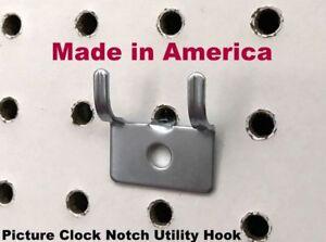 "6 Inch All Metal Peg Hooks 1//8 to 1//4/"" Pegboard Garage kit Slatwall 250 PACK"