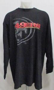 San-Francisco-49ers-NFL-Men-039-s-Big-amp-Tall-L-S-Black-Reflective-Tee