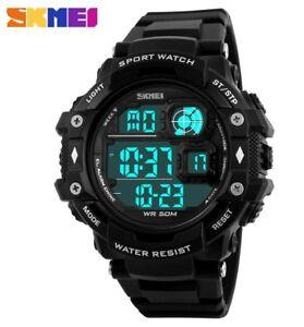 Skmei-Men-Women-LED-Digital-Military-Watch-50M-Dive-Swim-Fashion-Sports-2018