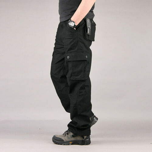 Mens Military Army Combat Trousers Work Cargo Pants Casual Walking Multi Pocket