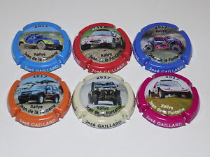 6 CAPS DE CHAMPAGNE GAILLARD JOSE N°16 au 16e Rallye de Jean de la Fontaine