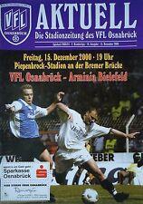 Programm 2000/01 Osnabrück - Arminia Bielefeld