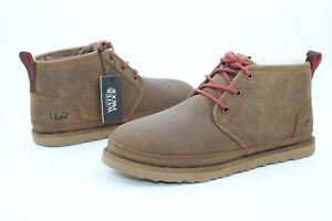 da02ab361f7 Details about UGG For Men Boots Neumel Waterproof Leather / Wool Grizzly  Brown US Size 9
