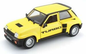 BURAGO 21088B or 21088Y RENAULT 5 TURBO model cars blue yellow 1982 1:24th scale