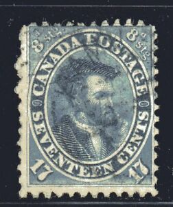 1859-64-Canada-SC-19-First-Cents-Issue-Jacques-Cartier-Lot-CU27-Used