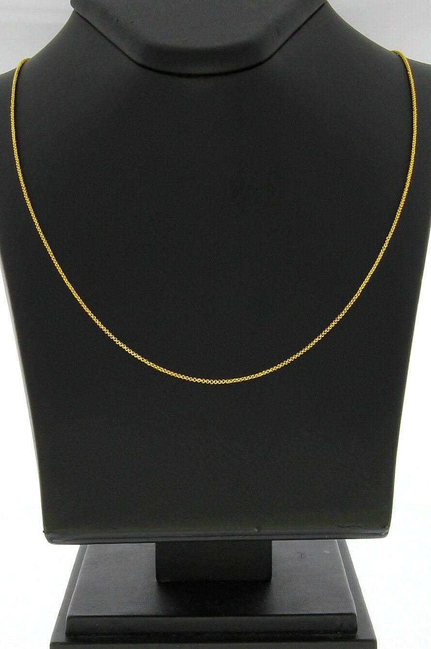 8689-585er yellowgold kette Lang 50 cm Breit 1 mm  Gewicht 2,8 Gramm