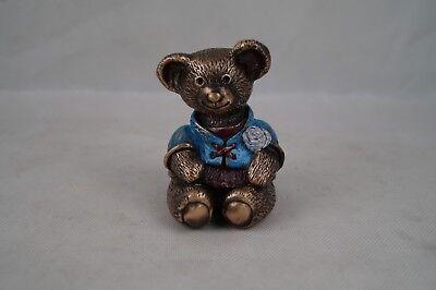 Handcoloriert Bronzefigur Ca 10 Cm Shop For Cheap Bronze-teddy