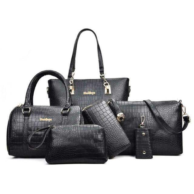 3pcs//set Women Fashion PU Leather Handbag+Purse+Shoulder Bag Camel L/&6