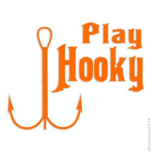 Play Hooky Fishing Decal Sticker Choose Color Size #536