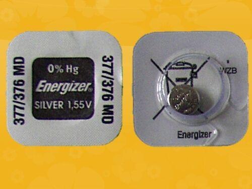 25 x Energizer 377 376 V377 SR626SW SR66 AG4 1,55V  Knopfzellen Uhr-Batterien