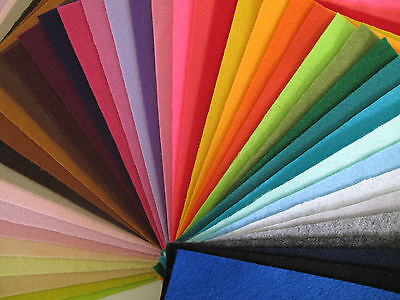 43 Colours Felt Square Pack – approx 22cm x 22cm each - 1mm thick - Art & Craft