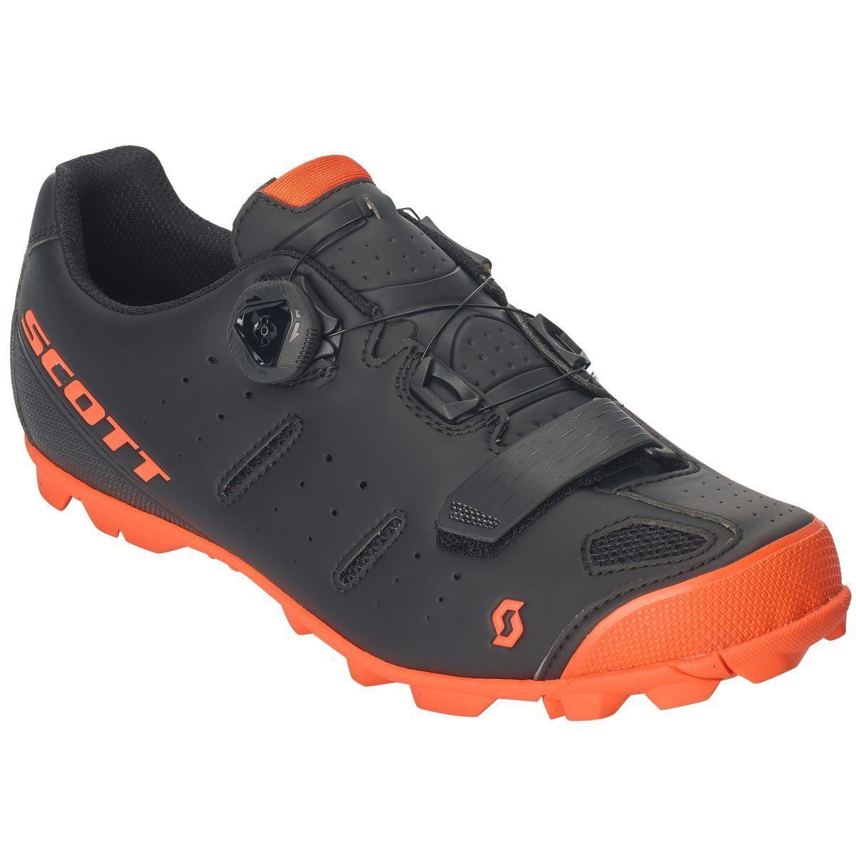 Bicicleta BOA elite Scott MTB zapatos negro naranja 2019