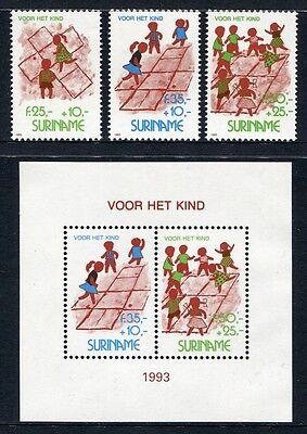 Motive Bl.61 ** Mnh StäRkung Von Sehnen Und Knochen Surinam 1993 Kinderspiele Children Games Kinder 1461-64