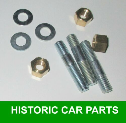 THERMOSTAT HOUSING STUDS WASHERS /& BRASS NUTS MORRIS MINOR Series II 2 1952-56