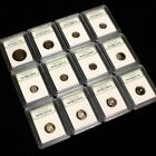 Estate Sale USA Proof Coin Dealer Lot. 12 Slabbed Proof Coins - No Pennies