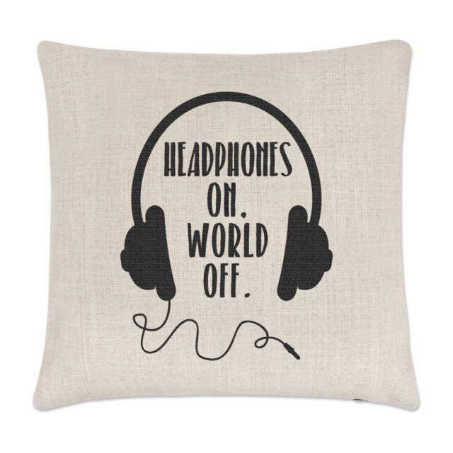 Headphones On World Off 17oz Large Latte Mug Cup Funny Music DJ