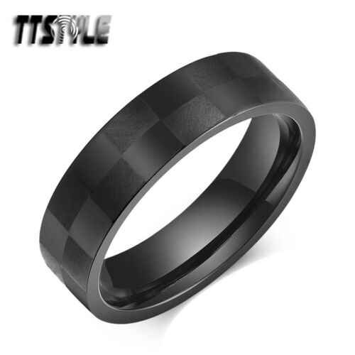 TTStyle 6mm Stainless Steel Wedding Band Ring 3 Colours Size 6-11 NEW