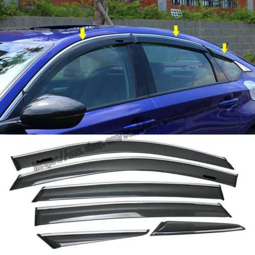 For Honda Accord 2018-2019 ABS Window Visors Weather Shields weather Guard Cover