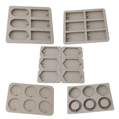 6-Cavity Silicone Aromatherapy Wax Candle Plaster Epoxy Soap Molds DIY Crafts J