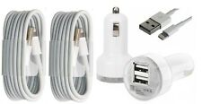 Double USB Car Charger With 2X-8 PIN Sync Cable Fits Apple iPhone 7 6 6+ 5 5S