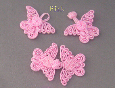 Butterfly Beaded Frog Fasteners Button Knots Available 8 Different Colour # 18