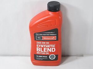Motorcraft sae 5w 30 premium synthetic blend motor oil for Motorcraft synthetic blend motor oil