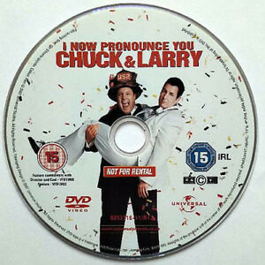 I Now Pronounce You Chuck Larry Dvd Disc Only 2007 Adam Sandler 5050582537161 Ebay