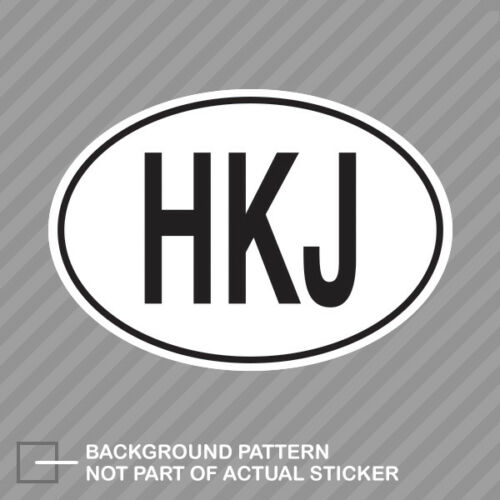 HKJ Jordan Country Code Oval Sticker Decal Vinyl Jordanian euro