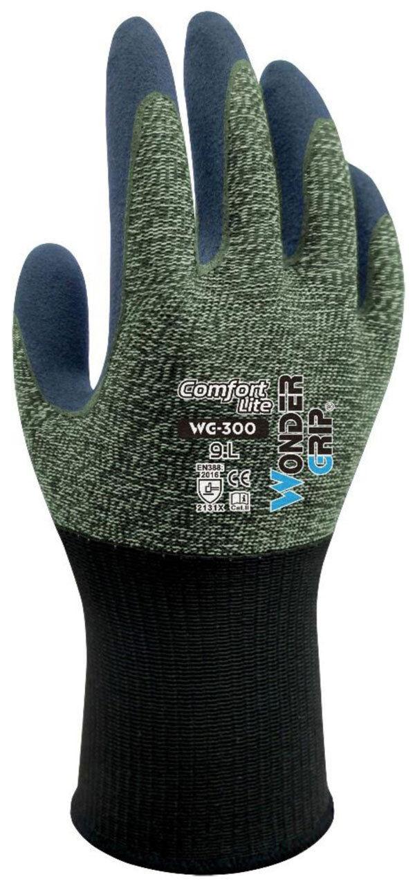 12 X X X Paires Wonder Grip WG-300 confort Lite Latex Coated Nylon Sécurité Travail Gants 8fe08d