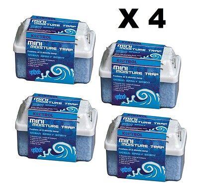 4 x KONTROL MINI MOISTURE TRAP FOR FRESHEN AIR AND ABSORBING DAMP / Dehumidifier