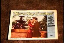 NEVER SAY GOODBYE 1956 LOBBY CARD #7 ROCK HUDSON