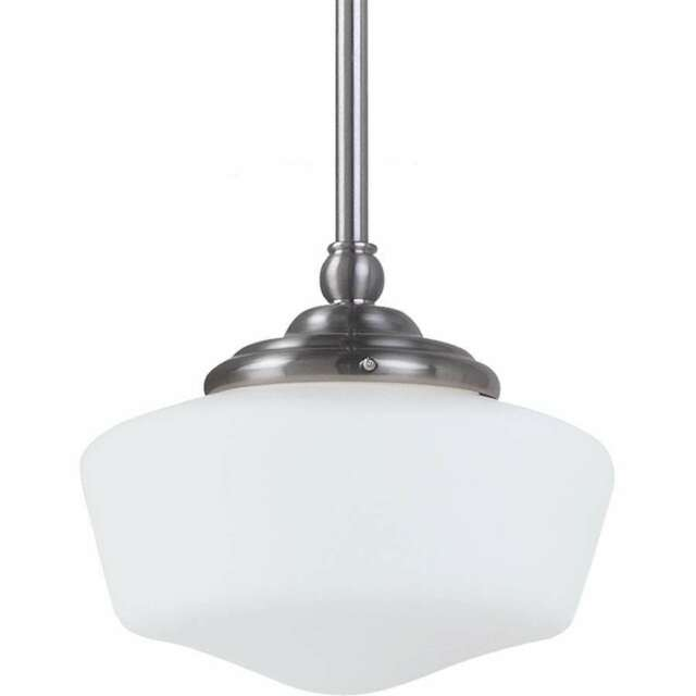 Sea Gull Lighting Academy Small Pendant, Brushed Nickel - 65436-962
