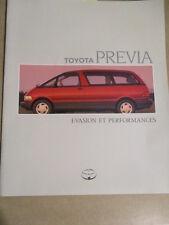 CATALOGUE AUTO : TOYOTA : PREVIA EVASION ET PERFORMANCES 10/1990