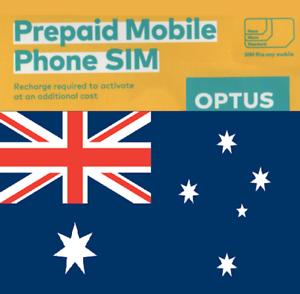 NEW, Australian Optus PREPAID SIM card. NANO, MICRO or STD. AUSTRALIA.
