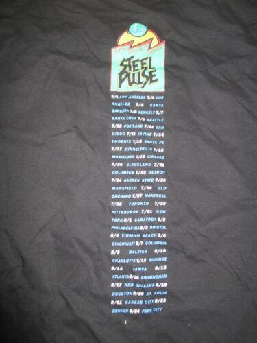 """1991 STEEL PULSE """"New World Order"""" Concert Tour (XL) T-Shirt"""