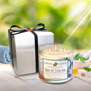 Aromatherapy-Candle-Handmade-Day-At-The-Spa-Scented-Soy-Candle-Free-Shipping