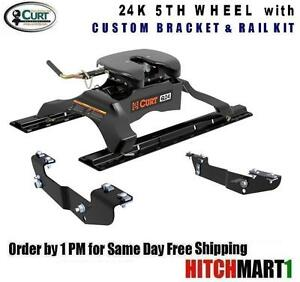 24K-CURT-5TH-FIFTH-WHEEL-TRAILER-HITCH-PACKAGE-CHEVY-PICKUP-16418-16204-16245