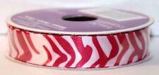 """Celebrate It Ribbon 360 Pink Zebra Pattern 5/8"""" x 7 yd 100% Polyester"""