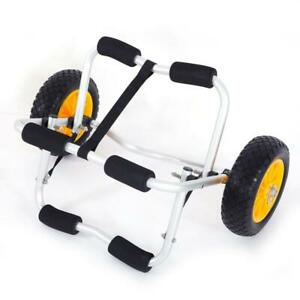 Bend Kayak Canoe Boat Carrier Dolly Trailer Trolley Transport Cart Wheel Yellow