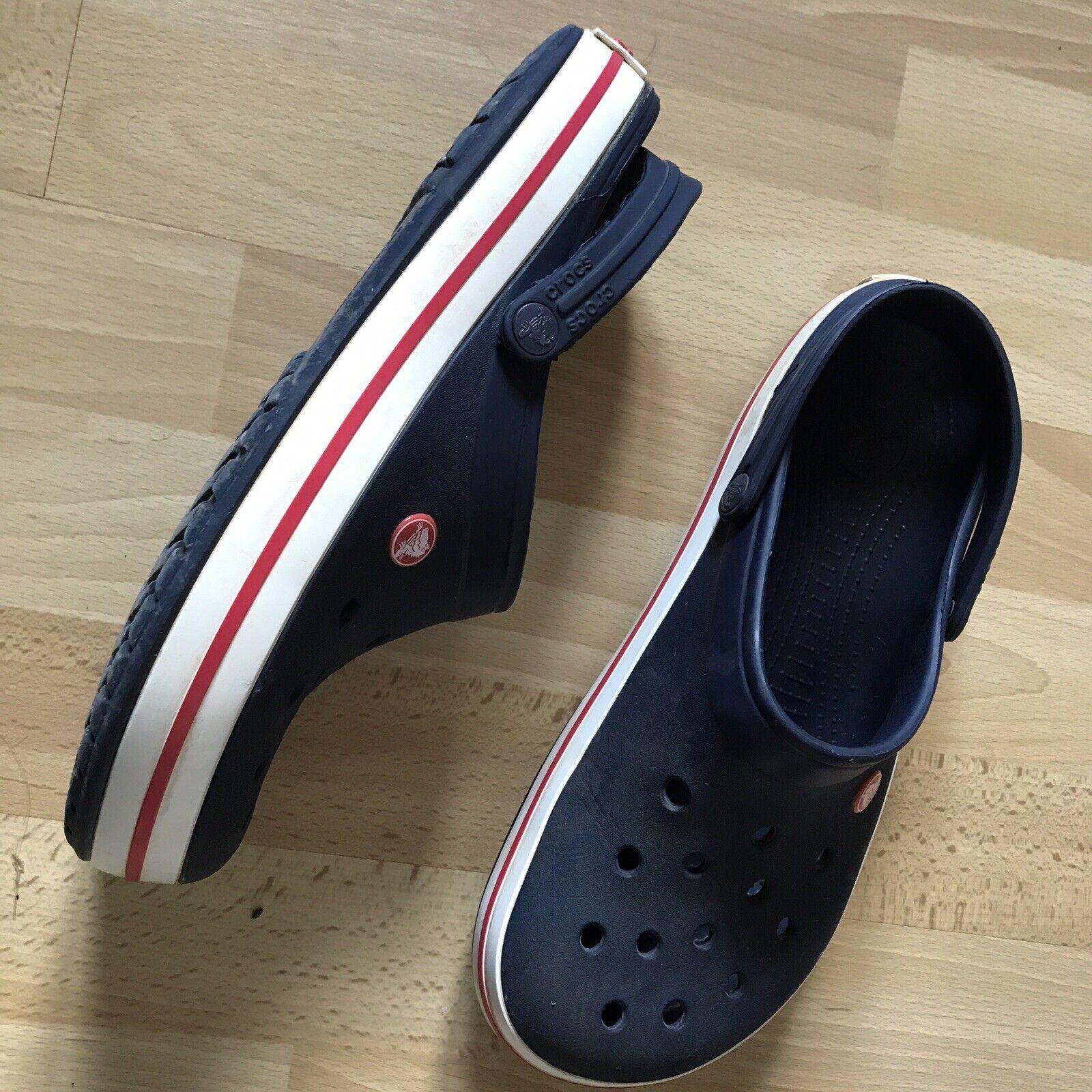 Mens Crocs Navy Red UK 9