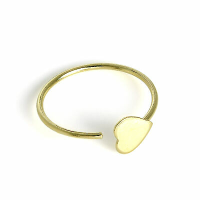 9ct Gold /& 2.5mm CZ Crystal Open Nose Hoop Ring 375 Piercing Body Jewellery