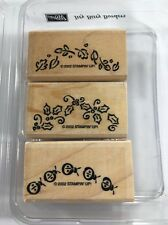 Stampin Up! Itty Bitty Borders Set of 3Ladybug Holly Leaves 2002