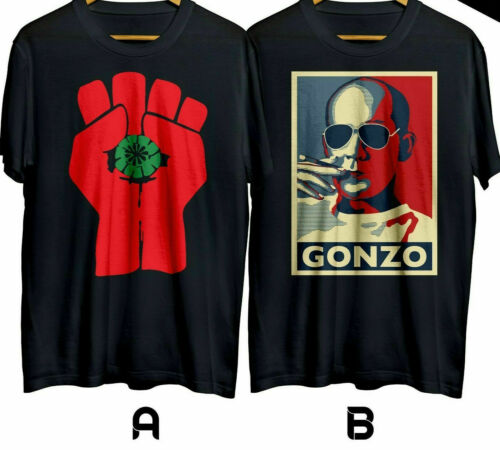 New GONZO Hunter S Thompson Journalism Men Black T-Shirt S-3XL