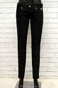 Jeans-Donna-DONDUP-Taglia-Size-28-Pantalone-Pants-Woman-Cotone-Slim-Fit-Nero