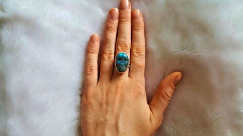 Eliz STERLING SILVER 925 Genuine Labradorite Carved Skull Natural Gemstone Punk