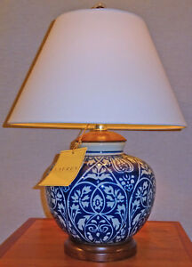Image Is Loading RALPH LAUREN BLUE Amp WHITE PORCELAIN TABLE LAMP