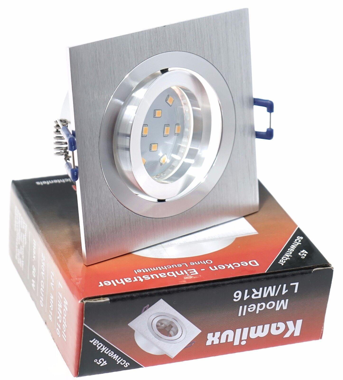 5-15X KANTO Einbaustrahler 5W SMD-LED schwenkbar & drehbar Einbauleuchte Set Alu