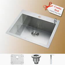 """Customized Design 24"""" Top Mount Zero Radius Kitchen Sink Grid Colander KTS2421"""