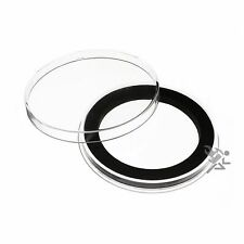 """Air-Tite Brand Y50.8mm Black Ring Capsule Holders 2"""" Challenge Coins Qty: 3"""