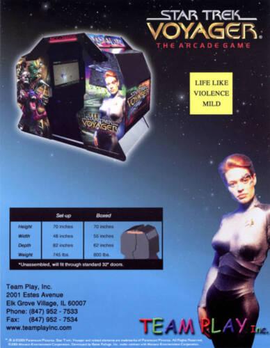 2002 TEAM PLAY STAR TREK VOYAGER VIDEO FLYER